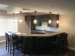 Basement renovation completed