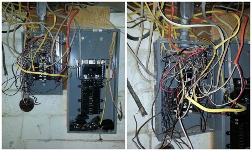 over wiring